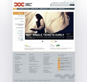 Canadian Opera Company Website Post Redesign