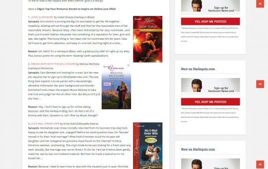 Harlequin Blog
