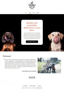 Beasley Pet Co Website Homepage