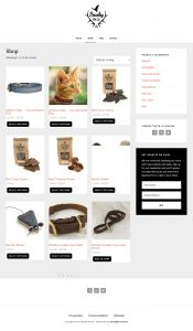 Beasley Pet Co Website Shop Page
