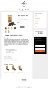 Beasley Pet Co Website Product Page