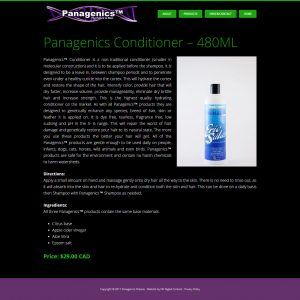Panagenics Ontario Individual Product Page
